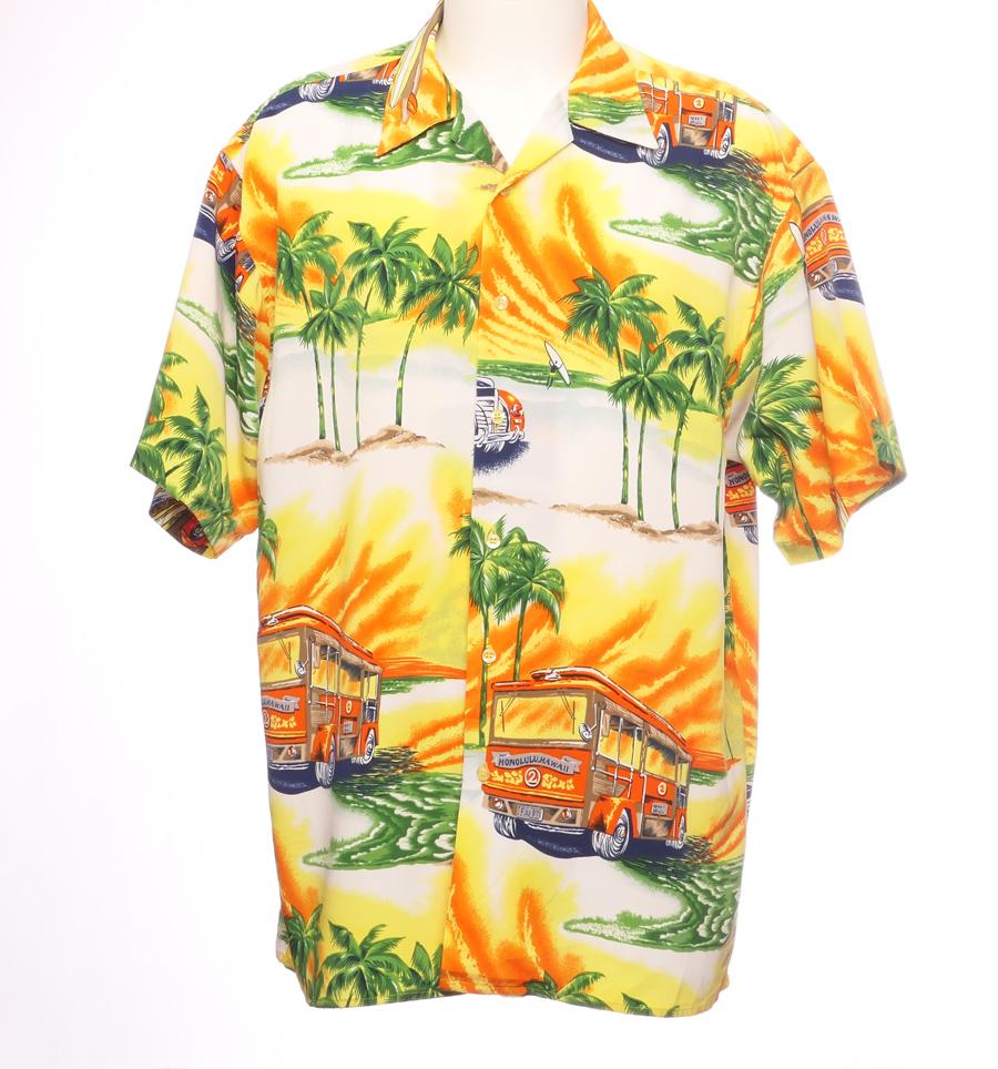 HAWAII SKJORTE BUSS & BIL